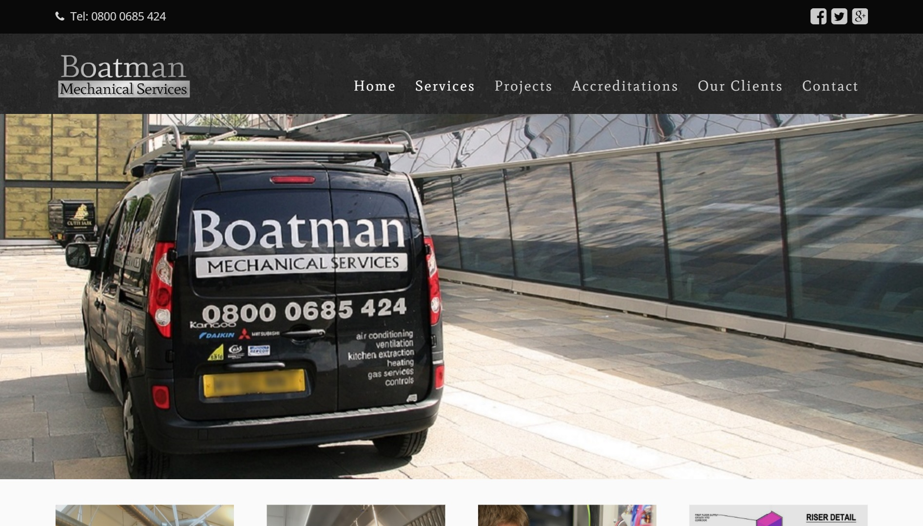 Website design for Boatman Mechanical