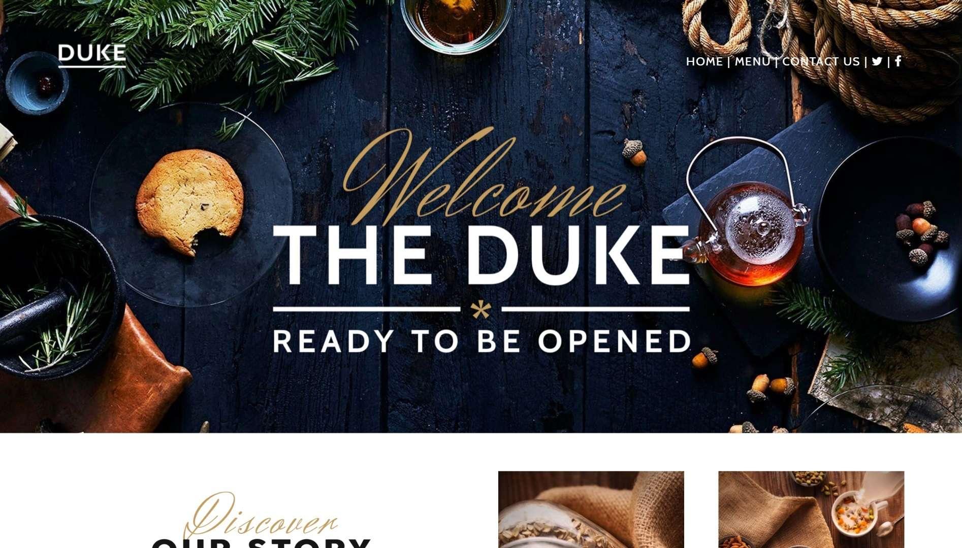Website Design for The Duke