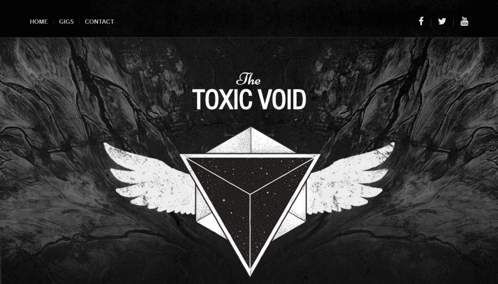 Website designed for the toxic void