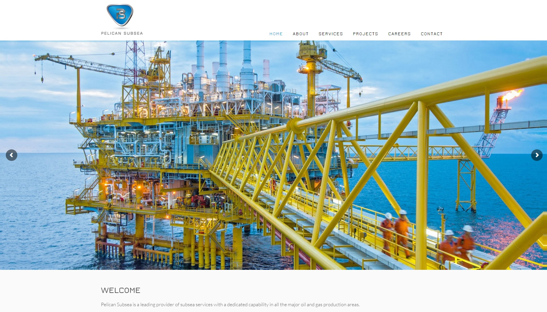 Pelican Subsea Website Design