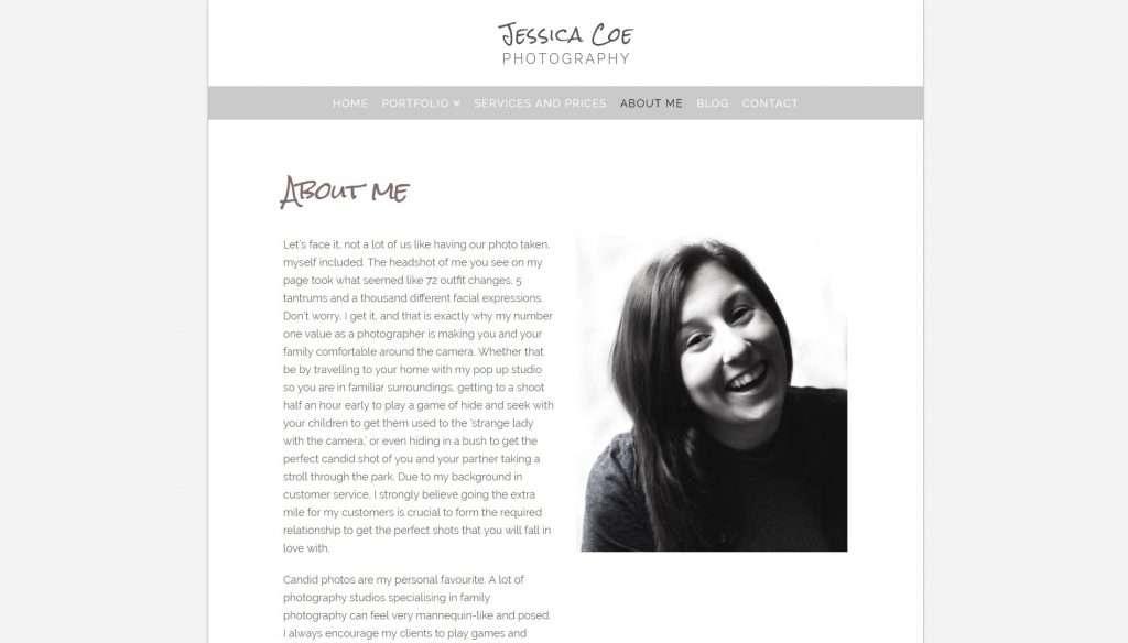 website-design-jessica-coe-photography