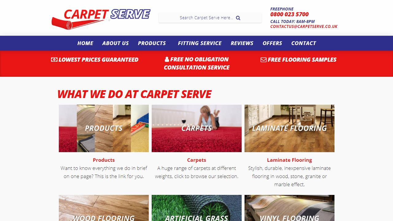 Carpets Web Design